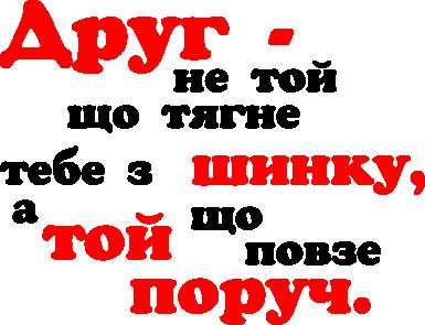 Принт Толстовка Друг не той, що тягне тебе з шинку - FatLine