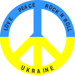 Принт Кружка 320ml Love,peace, rock'n'roll, Ukraine - FatLine