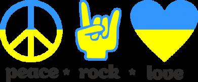 Принт Женская толстовка Peace, Rock, Love - FatLine