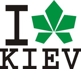 Принт Кепка-тракер I love Kiev - с листиком - FatLine