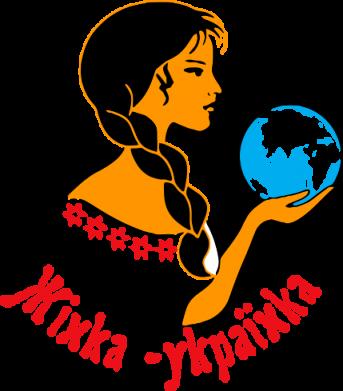 Принт Женская футболка с V-образным вырезом Жінка-Українка - FatLine