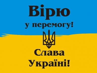 Принт Мужская футболка  с V-образным вырезом Вірю у перемогу! Слава Україні! - FatLine