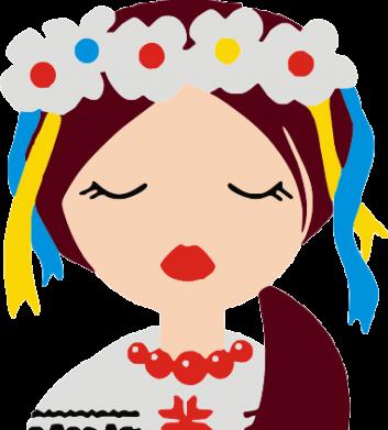 Принт Мужская толстовка на молнии Красива україночка - FatLine