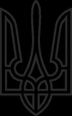 Принт Тельняшка с длинным рукавом Герб України (полий) - FatLine