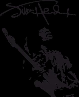 Принт Кружка 320ml Jimi Hendrix афтограф - FatLine