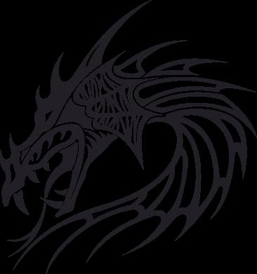 Принт Футболка Поло Dragon - FatLine