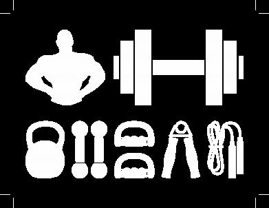 Принт Мужская футболка  с V-образным вырезом Набор спортсмена - FatLine