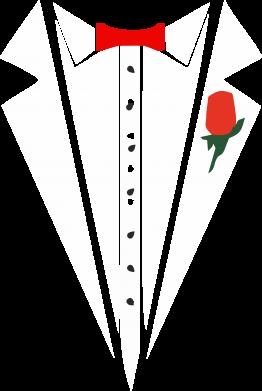 Принт Реглан Смокинг с бабочкой и розой - FatLine