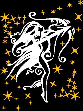 Принт Женская майка Стрелец - FatLine