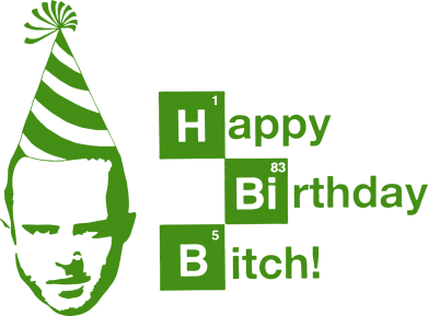 Принт Подушка Happy Birthdey Bitch Во все тяжкие - FatLine