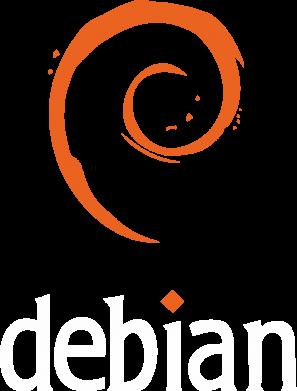Принт Женская футболка с V-образным вырезом Debian - FatLine