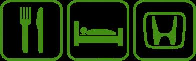 Принт Подушка Eat Sleep Honda - FatLine