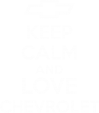 Принт Футболка Поло KEEP CALM AND LOVE CHEVROLET - FatLine
