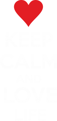 Принт Тельняшка с длинным рукавом KEEP CALM and LOVE LIFE - FatLine