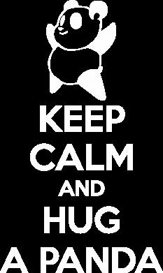 Принт Футболка Поло KEEP CALM and HUG A PANDA - FatLine