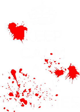 ����� �������� � ������� ������� KEEP CALM and KILL ZOMBIES - FatLine