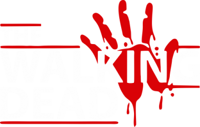 Принт Майка-тельняшка The Walking Dead logo - FatLine