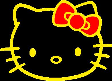 ����� �������� ���� Hello Kitty logo - FatLine