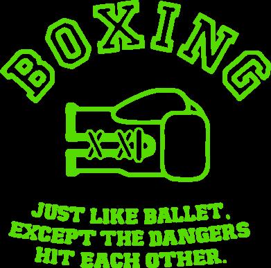 Принт Реглан Boxing just like ballet - FatLine