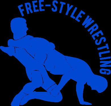 Принт Наклейка Free-style wrestling - FatLine