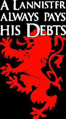 Принт Мужская толстовка на молнии A Lannister always pays his debts - FatLine