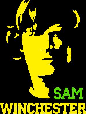 Принт Женская футболка Sam Winchester - FatLine
