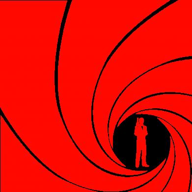 Принт Мужская майка Agent 007 - FatLine