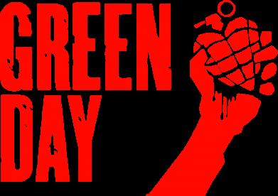 Принт Наклейка Green Day American Idiot - FatLine