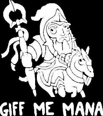 Принт Женская футболка с V-образным вырезом Giff Me Mana - FatLine