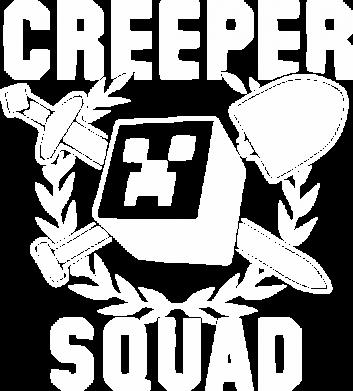 Принт Мужская футболка  с V-образным вырезом Creeper Squad - FatLine