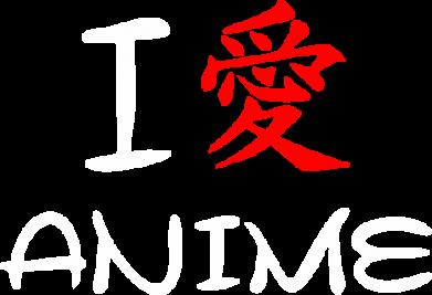 Принт Тельняшка с длинным рукавом I love Anime - FatLine
