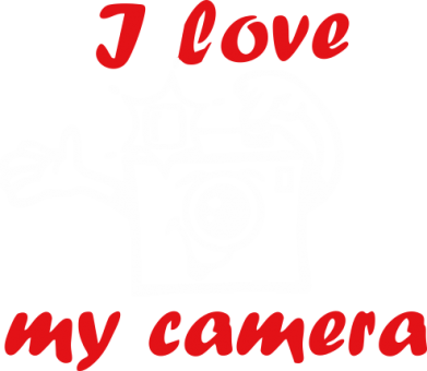 Принт Футболка I love my camera - FatLine