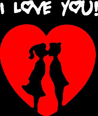 Принт Камуфляжная футболка I love you - FatLine