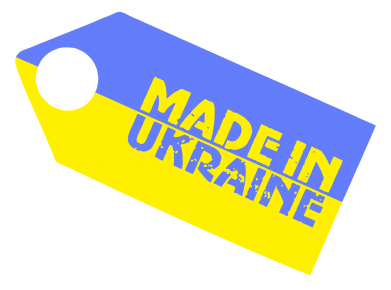 Принт Футболка Поло Made in Ukraine бирка - FatLine