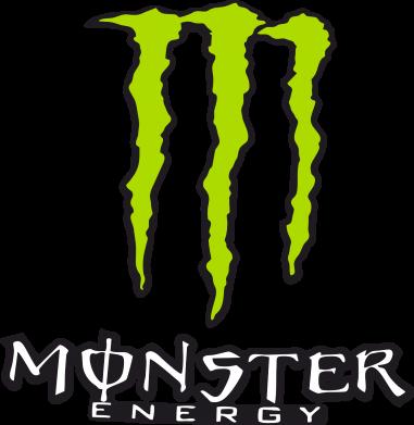 Принт Женская футболка с V-образным вырезом Monster Energy Logo - FatLine