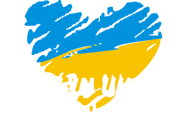 Принт Женская футболка с V-образным вырезом Made in Ukraine with Love - FatLine