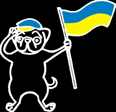 Принт Реглан Пес з прапором - FatLine