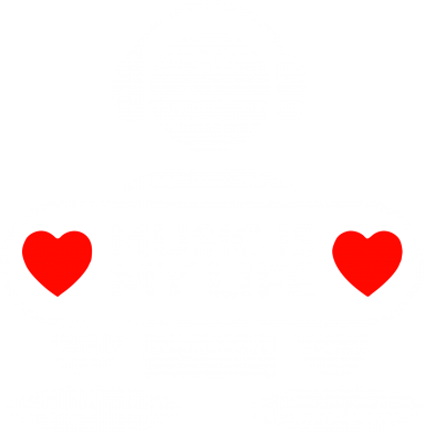 Принт Толстовка Music is my life - FatLine