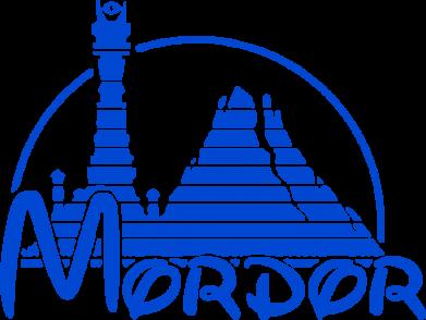 Принт Мужская футболка  с V-образным вырезом Mordor (Властелин Колец) - FatLine