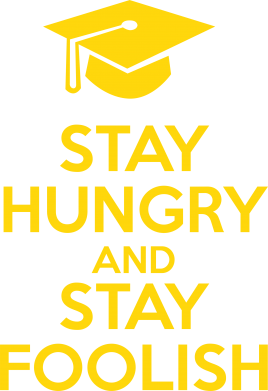 Принт Футболка STAY HUNGRY and STAY FOOLISH - FatLine