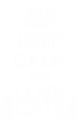 ����� ����������� �������� KEEP CALM and LOVE CATS - FatLine