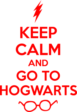 Принт Подушка KEEP CALM and GO TO HOGWARTS - FatLine