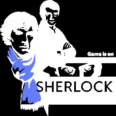 Принт Мужская майка Sherlock (Шерлок Холмс) - FatLine