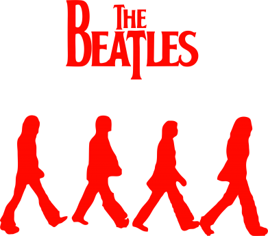 Принт Кружка 320ml Beatles Group - FatLine