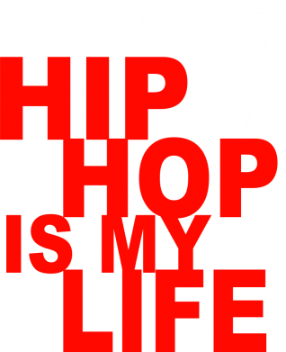 Принт Мужская толстовка на молнии Hip-hop is my life - FatLine