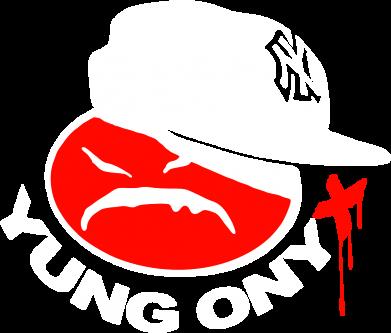 Принт Мужская толстовка на молнии Yung ONYX - FatLine
