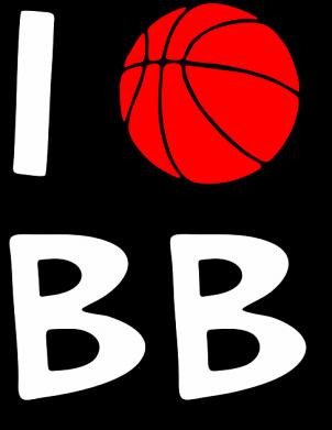Принт Детская футболка I love basketball - FatLine
