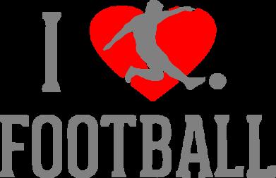Принт Коврик для мыши I love football - FatLine