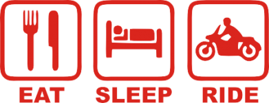 Принт Кружка 320ml Eat, sleep, ride - FatLine