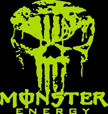 Принт Мужская футболка  с V-образным вырезом Monster Energy Череп - FatLine